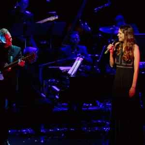 Images of Defying Gravity: The Songs Of Stephen Schwartz by Robert Catto, captured at the Theatre Royal in Sydney on Friday 12  February, 2016.  Defying Gravity: the songs of Stephen Schwartz is the world premiere concert production that is set to become the most exciting musical theatre event of 2016.  Stephen Schwartz has won three Academy Awards, four Grammys and four Drama Desk Awards for his work on Broadway hits including Godspell, Pippin and Wicked as well as the Disney movies Pocahontas, The Hunchback of Notre Dame and Enchanted.  This event celebrating this incredible body of work is headlined by two-time Tony Award winner Sutton Foster (Anything Goes, Thoroughly Modern Millie) and Aaron Tveit (Les Misérables movie, Next To Normal, Catch Me If You Can) who will appear alongside internationally renowned West End star Joanna Ampil (Miss Saigon, Les Misérables, Cats), Helpmann Award winner Helen Dallimore (Blood Brothers, Legally Blonde) and David Harris (Miss Saigon, Legally Blonde) who is returning to Australia for this event.  Making a very special guest appearance is Tony Award winning Broadway, TV and film icon Betty Buckley (Cats, Pippin, Sunset Boulevard, Carrie) in her debut Sydney performance.  This thrilling concert includes Stephen Schwartz classics such as Day by Day, Colors of the Wind, When You Believe, Popular, Corner of the Sky, Beautiful City, Meadowlark and, of course, Defying Gravity.